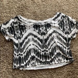 Black and white tie dye crop top